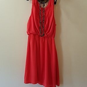 Salmon colored everly dress